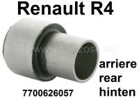R4, bonded-rubber bushing (per piece) for the bearing of the rear axle rocker. Suitable for Renault R4. Dimension inside: 27mm. Outside: 45mm. Length: 65mm + 27mm. - 83033 - Der Franzose