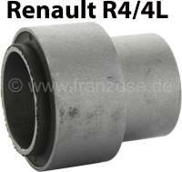 R4/R5, bonded-rubber bushing (per piece) for the bearing of the rear axle rocker. Suitable for Renault R4 + R5. Dimension: 55.0 x 27,5mm + 42.0 x 26,5mm. - 83035 - Der Franzose