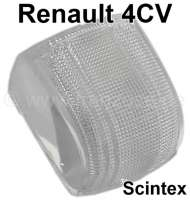 4CV, glass clear (1 pieces) for indicator Scintex. Suitable for Renault 4CV. | 85405 | Der Franzose - www.franzose.de