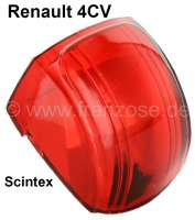 4CV, glass red (1 pieces) for indicator Scintex. Suitable for Renault 4CV. - 85400 - Der Franzose