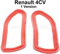 4CV, taillight cap rubber set (2 pieces), 1 version. Suitable for Renault 4CV, 1 version. - 85392 - Der Franzose