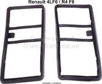 R4 F6, Gasket (2 pieces) for the rear lights. Only suitable for Renault R4 F6 panel van. Or. No. 770101862 + 770101879 - 85220 - Der Franzose