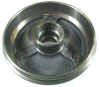 Brake drum rear (per piece). Suitable for Renault R4, to year of construction 08/1977. Renault R5, R6. Diameter: 160mm. Overall height: 68mm. Break area: 40mm. -1 - 84043 - Der Franzose