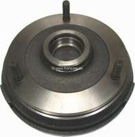 Brake drum rear (per piece). Suitable for Renault R4 (852cc), to year of construction 08/1986. Renault R5 + R6. Diameter: 160mm. Overall height: 68mm. Break area: 35mm. - 84147 - Der Franzose
