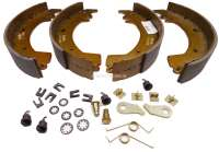 Brake shoe set rear, system Bendix. Drum diameter: 254mm. Lining-wide: 47mm. Suitable for Renault Trafic, of year of construction 1980 to 1989. -2 - 83145 - Der Franzose