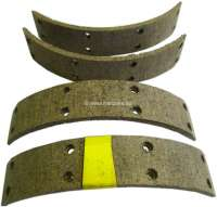 Brake shoes linings, to rivet. Suitable for Renault R5, R6. Drum diameter: 180mm. Lining-wide: 30mm. Inclusive rivets. - 84282 - Der Franzose