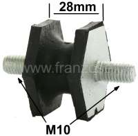 Silent block M10. Amount: 28mm. Large version for the final silencer. Suitable for Renault R4, R12, R16, R17. - 82021 - Der Franzose