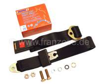 Safety belt, lap belt, rear. Suitable for Renault R4. Attention: Only suitable for vehicles that have a factory-made seat belt pre-fit (mounting thread in the boot floor, directly behind the seat bench). - 88834 - Der Franzose