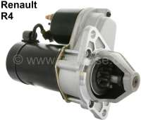Starter motor (new part), suitable for Renault R4, starting from year of construction 07/1970 (R1123,2391,1221,1220,1391). 12 V. Power: 0,50KW. Mounting holes: 2. Assembly position: Position of 36°. Or. No. 7700561416. The starter motor is a new part. An old part return is not necessary! - 82130 - Der Franzose