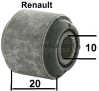 R4/R5/R6/R12/R16, steering gear bonded-rubber bushing (mounting of the tie rod), steering side. Suitable for Renault R4, R5, R6, R12, R16. Inside diameter: 10mm. Construction length inside: 28mm. Outside diameter: 28mm. Construction length outside: 20mm. - 83102 - Der Franzose