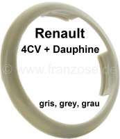 4CV/Dauphine, plastic ring for the emblem in the steering wheel. Colour: grey. Suitable for Renault 4CV, second version. Renault Dauphine. - 83377 - Der Franzose