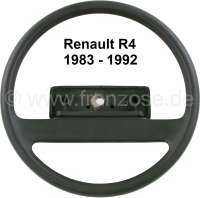 Steering wheel, suitable for Renault R4, starting from year of construction 1983. Renault R5. Without steering wheel hub cover! Original Renault, no reproduction. Or. No. 7704001260 - 83278 - Der Franzose