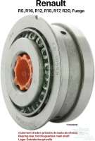 Bearing rear, for the gearbox main shaft. Suitable for Renault R16, R12, R15, R17, R20, Fuego, R5. Outside diameter: 67/75mm. Inside diameter: 25mm. Overall height: 40,5mm Or. No. 770309181   80078   Der Franzose - www.franzose.de