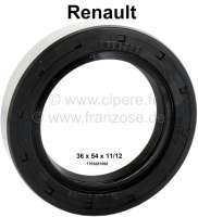 Shaft seal differential 36 x 54 x 11/12. Suitable for Renault R5, R12, R16, R20. Made in Germany. - 81310 - Der Franzose