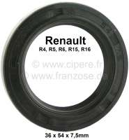 Shaft+seal+differential.+Dimension%3A+36+x+54+x+7%2C5mm.+Suitable+for+Renault+4+%28final+version%29%2C+R5%2C+R6%2C+R15%2C+R16.+Made+in+Germany.