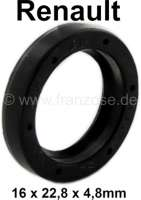 Shaft seal gearbox 16 x 22.8 x 4,8. Suitable for Renault with rear engines, R4, R5, R12, R14, R16, R18. Made in Germany. - 81309 - Der Franzose
