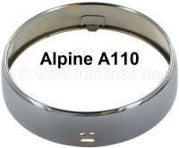 A 110, auxiliary headlight chrome ring (Jod headlamp). Suitable for Alpine A110. Per piece. Diameter in front: 150,4mm. Diameter rear: 160mm. Deep chrome ring: 39,5mm. - 85370 - Der Franzose