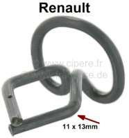 Clip (wire clamp) for the box sills trim, with 13mm mounting. Suitable for Renault R4, R12, R16. | 89507 | Der Franzose - www.franzose.de