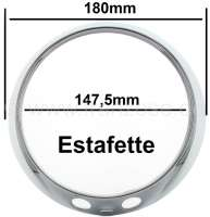 Estafette, headlamp chrome trim. Suitable for Renault Estafette. - 85378 - Der Franzose