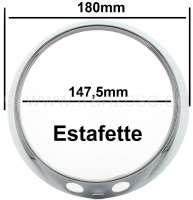 Estafette, headlamp chrome trim. Suitable for Renault Estafette. | 85378 | Der Franzose - www.franzose.de