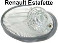 Estafette, indicator in front (with rubber). Colour: claer. Suitable for Renault Estafette, first version. - 85410 - Der Franzose