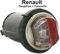 Park light (position light), red - clear. Suitable for Renault R4 L. Renault Renault Caravelle, R8, R10 - 85385 - Der Franzose