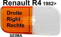 R4, turn signal cap front on the right. Suitable for Renault R4, starting from year of construction 1982. For light manufacturer Seima. - 85143 - Der Franzose