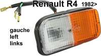 R4, indicator completely, front on the left. Color: white - orange. Suitable for Renault R4, starting from year of construction 1982. - 85080 - Der Franzose