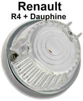 R4/Dauphine, indicator cap (with trim ring) in front, for round indicator. Suitable for Renault R4, 1 series + Renault Dauphine. Outside diameter: 71mm - 85408 - Der Franzose