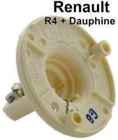 R4/Dauphine, indicator support in front, for round indicator. Suitable for Renault R4, 1 series + Renault Dauphine. Outside diameter: 62mm. Or. No. 0854573400 - 85407 - Der Franzose