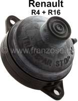 Foot switch for the disk wiping water! Suitable for Renault R4 + R16. Or. No. 7701002908. Original, no reproduction. Fixing bolts center - center: 67mm. Note: The pump have only 1 line connection. - 85332 - Der Franzose