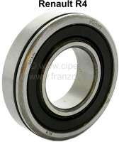 Wheel bearing front, with external groove + sealing ring (O-ring). Suitable for Renault R4. Dimension: 30 x 62 x 16mm. Made in Spain - 83006 - Der Franzose