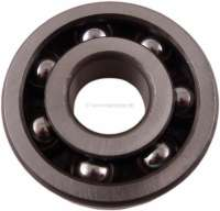 Wheel bearing rear axle. Suitable for Renault R8, R10, Alpine 110, Dauphine, Caravelle. The bearing is mounted on the full-floating axle. Onto the full-floating axle the wheel plate is then pushed. Outside diameter: 68,0mm. Inside diameter: 19,0mm. Overall height: 19,0mm. Or. No. 0852914400. Made in Spain - 83300 - Der Franzose