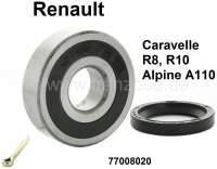 Wheel bearing set rear. Suitable for Renault Caravelle, R8, R10, alpine A110. Dimension: 68 x 25 x 19mm. Or. No. 77008020 - 83370 - Der Franzose