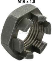 Hub nut - crown nut M16x1,5. Low version. Suitable for Renault R4. - 20997 - Der Franzose