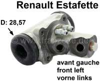 Estafette, wheel brake cylinder front on the left. Suitable for Renault Estafette. Piston diameter: 28,57mm. Or. No. 7701365164 - 84316 - Der Franzose