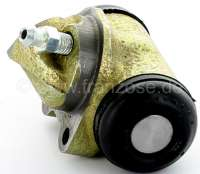 4CV/Dauphine/Floride, wheel brake cylinder rear on the right. Suitable for Renault 4CV, Dauphine + Floride. Piston diameter: 20.6 mm. Mounting board bore: 32 mm. Brake line connector: 3/8x24UNF. Length over everything: 60 mm. Made in France -1 - 80022 - Der Franzose