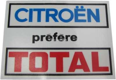 Autres Auto, Moto – Pièces, Accessoires Autocollant Citroën Préfère Total Pour Vitre Arrière