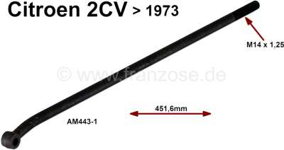 Citroen-2CV barre de direction, 2CV, AK, Ami jusque 1973, long. 451,6mm., identique droite et gauche,