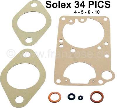 Citroen-2CV pochette d'étanchéité de carburateur 2CV4, 2CV6, carburateur rond Solex PICS344-5-6-10.