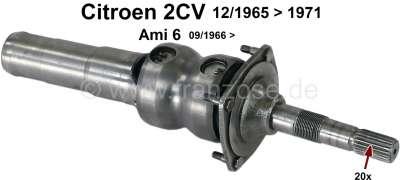 Citroen-2CV cardan côté boîte de vitesse (20 cannelures), 2CV de 12.1965 à 1971, Ami 6 après 09.1966,