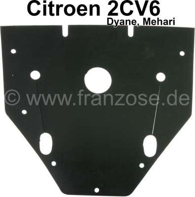 Citroen-2CV boîtier d'allumage, bavette caoutchouc dans le boîtier de ventilateur, Citroën 2CV, sur l'