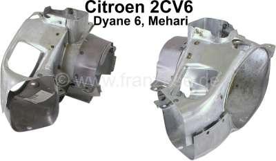 Citroen-2CV tôles d´habillage moteur, kit 4 pièces, Citroën 2cv6 (entrée d´air autour du cylindre), re