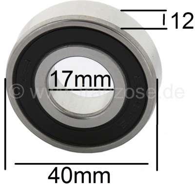 Citroen-2CV roulement embrayage centrifuge 2CV4, 2CV6, n° d'origine ZC9620103, 17x40x12
