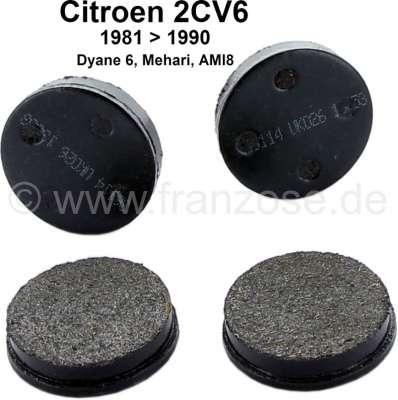Citroen-2CV plaquettes de frein à main, 2CV équipée de freins à disques, GS 1,0l. , refabrication