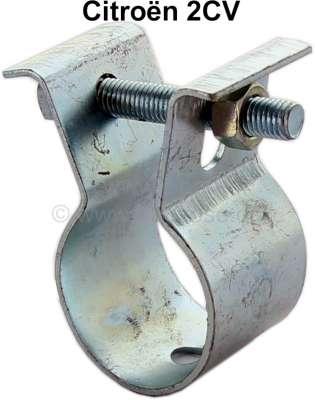 Citroen-2CV collier de tube d'échappement arrière, 2CV4, 2CV6, Dyane (le caoutchouc de fixation y est