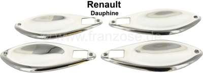 Renault Coquille Sous Poignée De Porte, Renault Dauphine, Le Jeu De 4 Pces  En