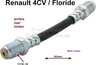 RENAULT 4CV R1062 FLEXIBLE FREIN AVANT ARRIERE 1956-1961 MAITRE CYLINDRE ROUE