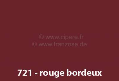 peinture en bombe 400ml renault 4l code couleur 721 rouge bordeaux pr par la demande. Black Bedroom Furniture Sets. Home Design Ideas