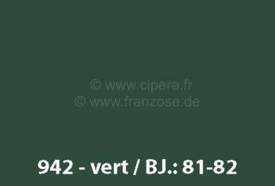 Peinture En Bombe 400ml Renault 4l Code Couleur 942 Vert Fonce Prepare A La Demande